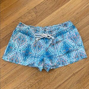 Roxy multi patterned drawstring casual shorts